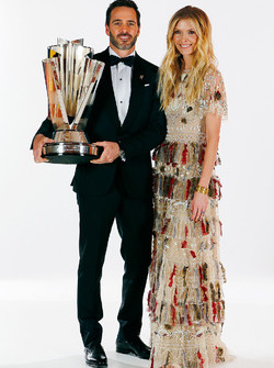 Champion Jimmie Johnson, Hendrick Motorsports Chevrolet and wife Chandra