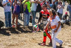 Trouble at the corksrew for Davide Giugliano, Aruba.it Racing - Ducati