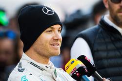 Nico Rosberg, Mercedes AMG F1 with the media
