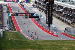 Start: Marc Marquez, Repsol Honda Team and Andrea Dovizioso, Ducati Team