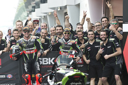 Race winner Tom Sykes, Kawasaki Racing, Jonathan Rea, Kawasaki Racing
