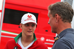 Mick Schumacher, Prema Powerteam with David Coulthard, Red Bull Racing and Scuderia Toro Advisor / Channel 4 F1 Commentator