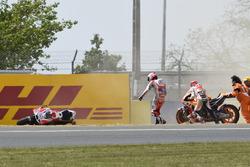 Марк Маркес, Repsol Honda Team, Андреа Довіціозо, Ducati Team аварія