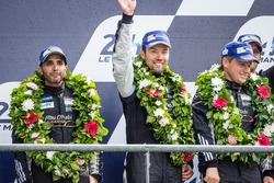LMGT Am podium: third place #88 Abu Dhabi Proton Competition Porsche 911 RSR: Khaled Al Qubaisi, Patrick Long, David Heinemeier Hansson