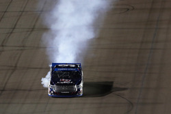 William Byron, Kyle Busch Motorsports Toyota with a blowing engine