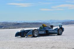 Lucas di Grassi drives on the Arctic ice cap