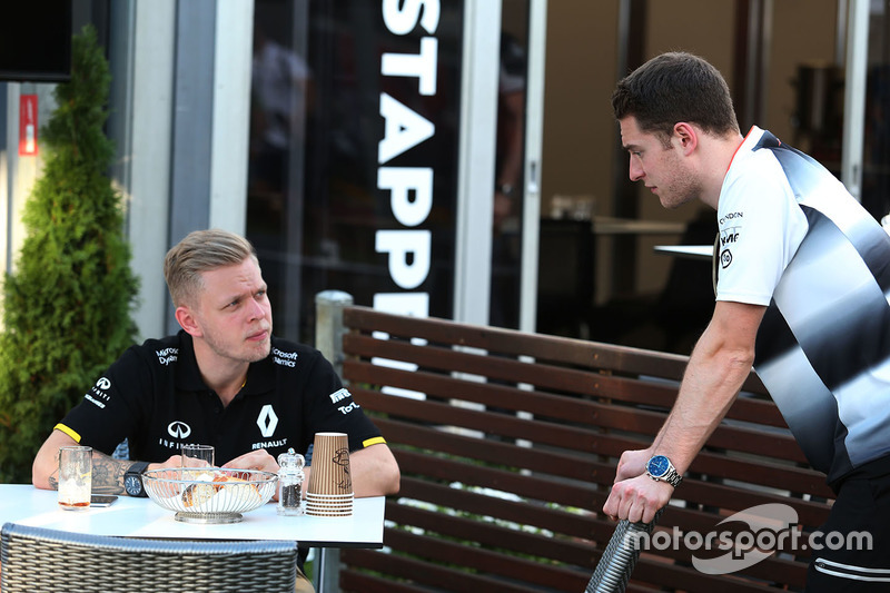 Kevin Magnussen, Renault Sport F1 Team and Stoffel Vandoorne, McLaren Test and Reserve Driver