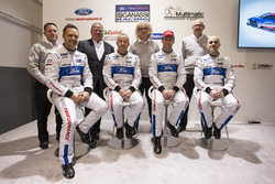 Marino Franchitti, Stefan Mücke, Andy Priaulx, Olivier Pla, Chip Ganassi Racing, George Howard-Chappell, Ford GT program manager, Larry Holt, Multimatic Motorsports Technical Director, Dave Pericak, Director, Ford Performance, Chip Ganassi,