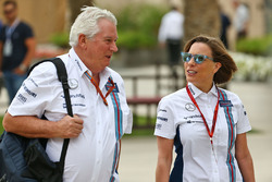 Pat Symonds, Williams Chief Technical Officer with Claire Williams, Williams Deputy Team Principal