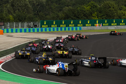 Pierre Gasly, PREMA Racing leads Antonio Giovinazzi, PREMA Racing and Norman Nato, Racing Engineering at the start
