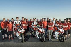 Leon Camier, Jules Cluzel and Lorenzo Zanetti, MV Agusta with the team