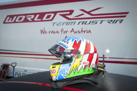 World Rallycross Photos - Helmet of Alexander Wurz during a World RX Team Austria Ford Fiesta test