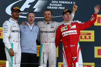 Formula 1 Photos - Podium: winner Nico Rosberg, Mercedes AMG F1 Team, second place Lewis Hamilton, Mercedes AMG F1 Team, third place Kimi Raikkonen, Ferrari