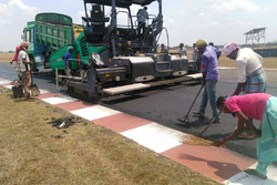 Work on repaving the track