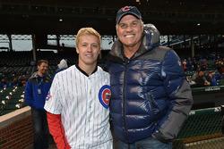 Baseball Hall of Famer Ryne Sandberg with Spencer Pigot, Rahal Letterman Lanigan Racing Honda