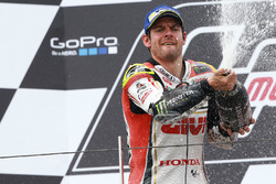 Podium: second place Cal Crutchlow, Team LCR Honda celebrates with champagne