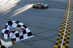 Martin Truex Jr., Furniture Row Racing Toyota takes the checkered flag