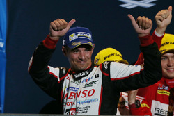 Podium: third place Stéphane Sarrazin, Toyota Racing