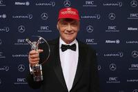Formula 1 Photos - Niki Lauda, Mercedes Non-Executive Chairman with the lifetime achievement award