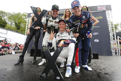 Podium: winner Mattias Ekström, EKS RX Audi S1, second place Petter Solberg, PSRX Citroën DS3 RX, third place Petter Solberg, PSRX Citroën DS3 RX