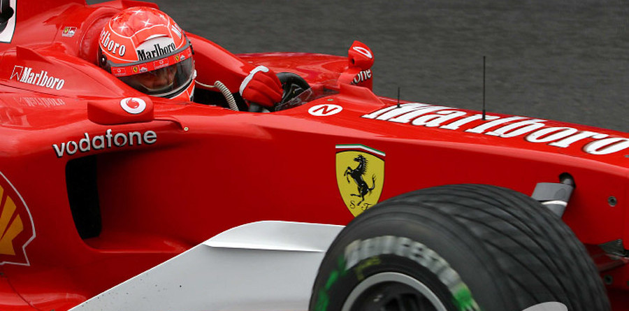 Schumacher tops first day of testing