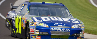 NASCAR Sprint Cup Jimmie Johnson takes Brickyard pole