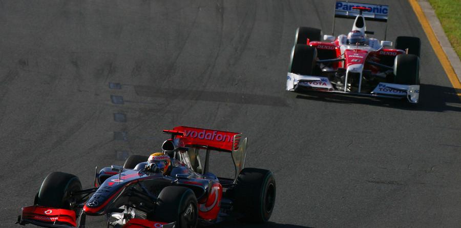 Trulli penalized, Hamilton moves to third