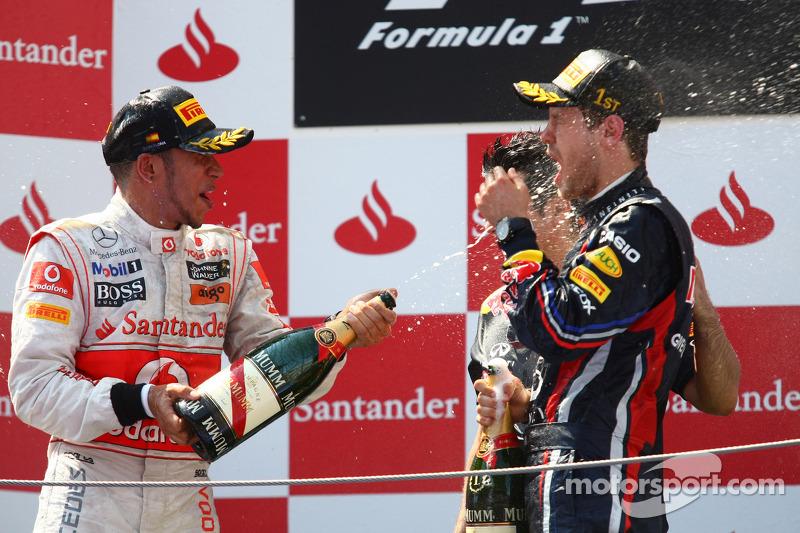 Vettel extends title lead despite pressure in Spain