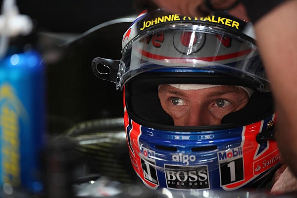 Button quickest during first practice at Abu Dhabis Yas Marina circuit