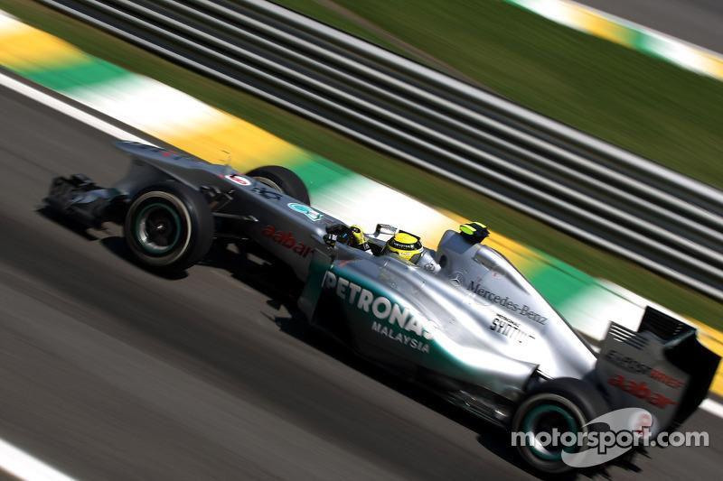 Mercedes Brazilian GP Friday practice report