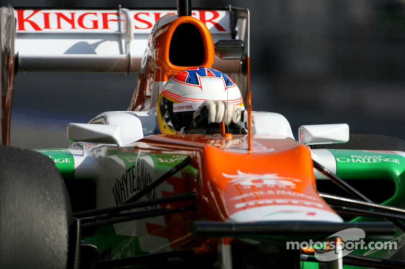 Force India Barcelona test II -  Day 1 report