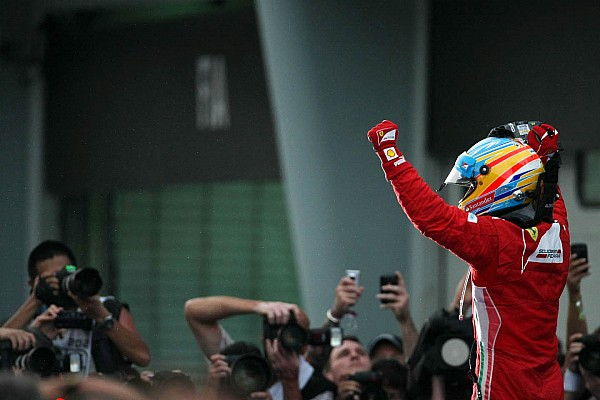 Ferrari celebrates Alonso victory in Malaysian GP