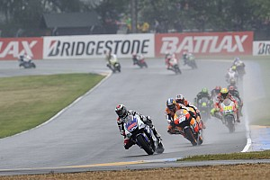 MotoGP Bridgestone pleased with wet tyre performance at Le Mans Bugatti Circuit