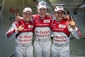 Le Mans Audi with e-tron quattro to first hybrid pole position at Le Mans