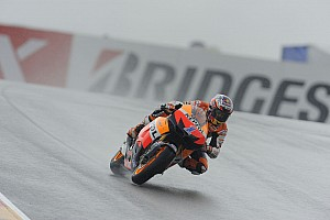 MotoGP Qualifying report Stoner fastest in soaked Sachsenring qualifying