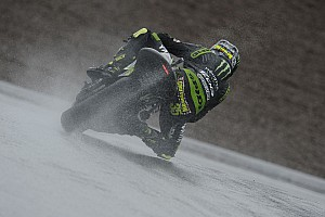 MotoGP Practice report Dovizioso and Crutchlow battle the elements in Germany