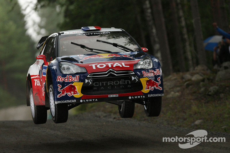 Loeb leads the flying Finns behind on opening day of Rally Finland