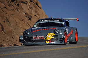 Hillclimb Practice report Romain Dumas quickly up to speed at Pikes Peak