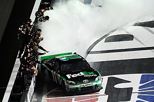 NASCAR Sprint Cup Race report Hamlin gets win in attrition-filled Bristol race