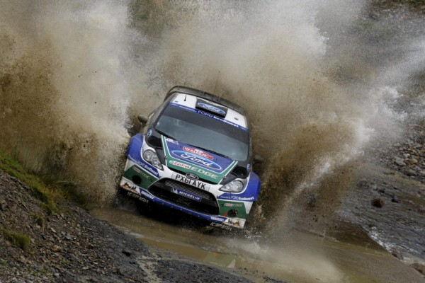 Latvala heads Ford 1-2 in opening day of Wales Rally Great Britain