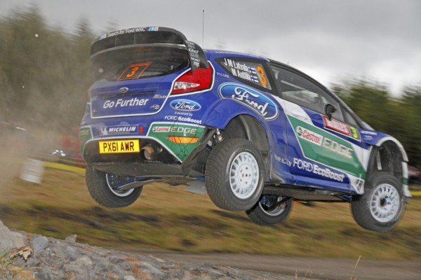 Latvala maintains the lead over Solberg and Loeb in Wales Rally GB