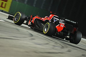 Free Practice 1 & 2 for Marussia in Singapore