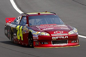 NASCAR Sprint Cup Qualifying report Jeff Gordon and his Chevrolet surprise pole winner at New Hampshire