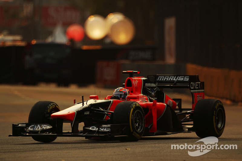 Marussia qualified in 21st and 22nd positions for Singapore Grand Prix