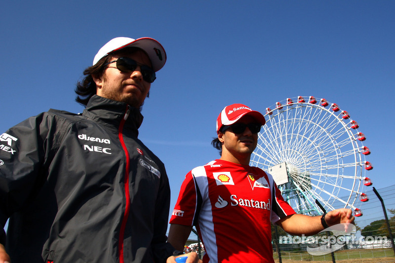Perez says Ferrari 'happy with Massa'