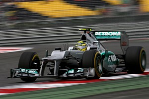 Rosberg and Schumacher qualified in ninth and tenth places for the Korean GP