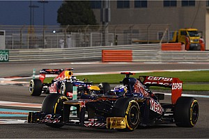 Toro Rosso's Ricciardo finished in the top ten at Yas Marina Circuit