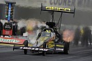Lucas leads Top Fuel qualifying after first session at Pomona finale