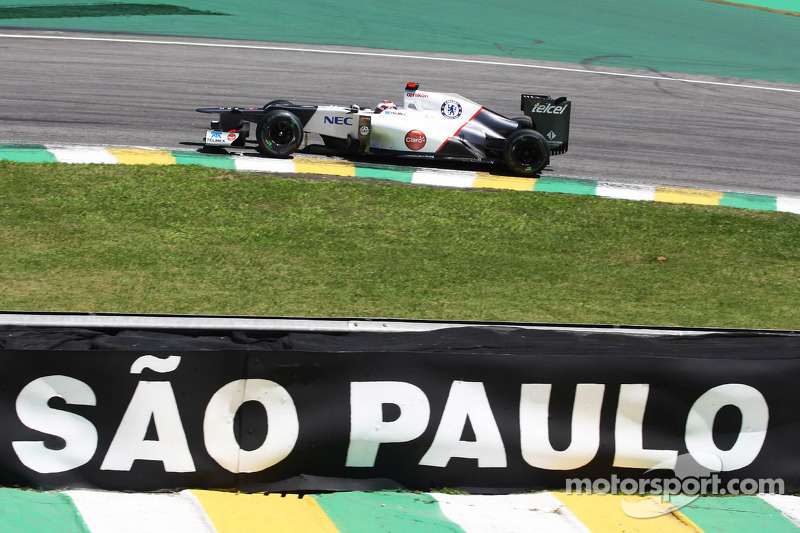 High track temperatures affected Sauber's tires on Friday at Interlagos