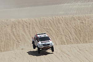 Dakar Stage report Toyota driver de Villiers pleased with performance in stage 2